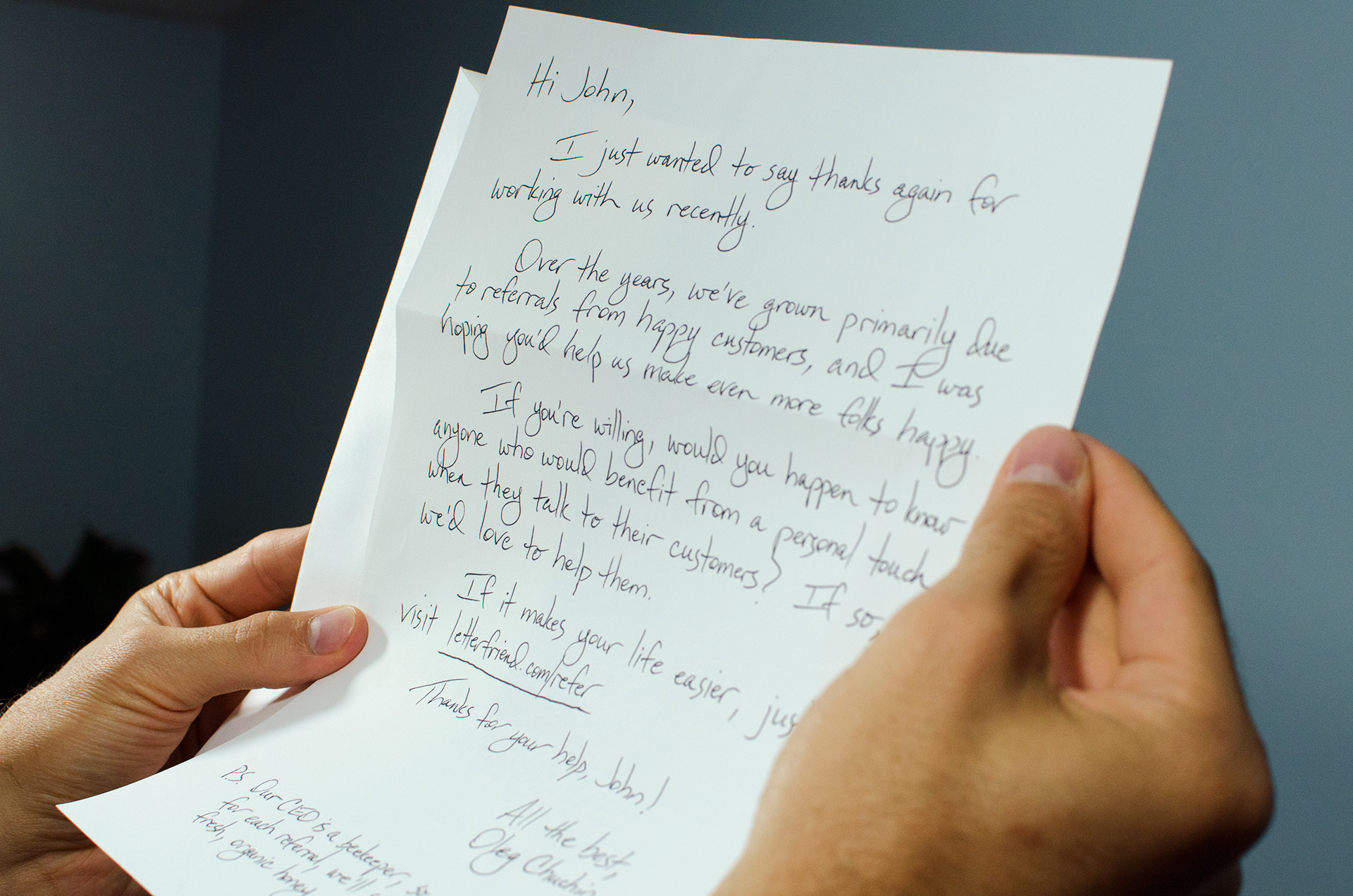 The Handwritten Letter Service To Grow Customer Loyalty